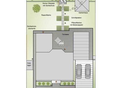 Gestaltung einer Gartenanlage